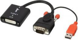 Kabel Lindy DVI D-Sub (VGA), 0.2, Czarny (38184)