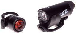 MacTronic Zestaw lamp rowerowych Ładowalna / bateryjna, 150/7 lm, SOLIS (ABS0011)