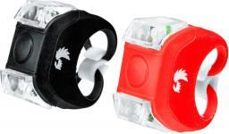 Falcon Eye Zestaw lamp rowerowych, WORMS, bateryjne (2x CR2032 / 2x CR2032), zestaw (baterie) (FBS0021)