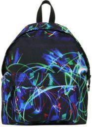 Derform Plecak młodzieżowy czarny w abstrakcje (DERF.PLM16J03)