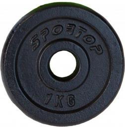 SPORTOP obciążenie żeliwne 1 kg fi26