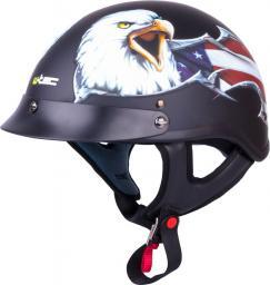 W-TEC Kask motocyklowy otwarty V531 chopper czarny z orłem r. S (55-56) (15851)