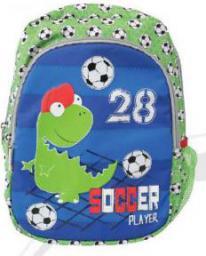 Eurocom Plecak duży Soccer Player zielono-niebieski (240958)