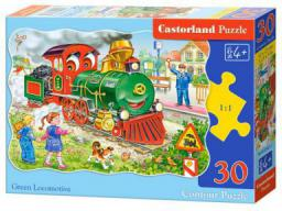 Castorland Puzzle 30 Green Locomotive (246995)