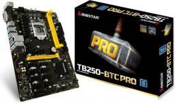 Płyta główna Biostar TB250-BTC PRO, B250, SATA3, DDR4, USB3.0, ATX