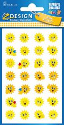Zdesign Naklejki papierowe - słoneczka (233612)