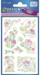 Zdesign Naklejki z kwiatami - Pastelowe Róże (188600)