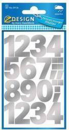 Zdesign Naklejki odporne na pogodę - numery srebrne (236838)