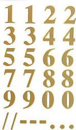 Zdesign Naklejki odporne na pogodę - numery złote (236844)