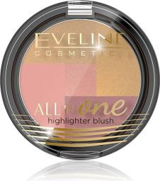 Eveline All-in-One Highlighter Blush Róż-mozaika rozświetlający nr 03  6.5g