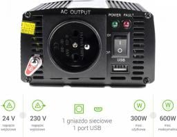 Przetwornica Green Cell 24V do 230V 300W/600W (INV02)