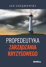 Difin Propedeutyka zarządzania kryzysowego (170057)