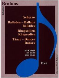 Brahms. Scherzo, Balladen, Rhapsodien fur Klavier (197734)