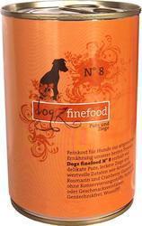 Dogz Finefood N.08 Indyk i koza puszka 400g