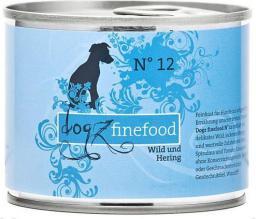 Dogz Finefood N.12 Dziczyzna i śledź puszka 200g