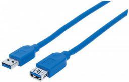 Kabel USB Manhattan USB 3.0 1m A-Męski/A-Żeński (325394)