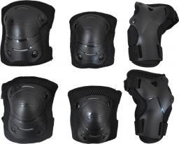 Axer Sport Komplet ochraniaczy czarne r. L/XL Junior (A23402)