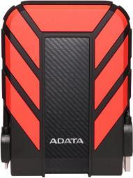 Dysk zewnętrzny ADATA HDD DashDrive Durable HD710 1 TB Czerwono-czarny (AHD710P-1TU31-CRD)