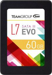Dysk SSD Team Group L7 Evo 60 GB 2.5'' SATA III (T253L7060GTC101)