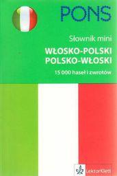 Słownik mini włosko - polski, polsko - włoski PONS