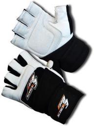 EB FIT rękawice skórzane z usztywnieniem czarno-szare r. S