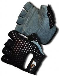 EB FIT Rękawice treningowe Fitness Man czarno-szare r. S
