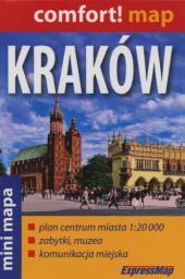 Comfort!map Kraków 1:20 000 mini,plan miasta