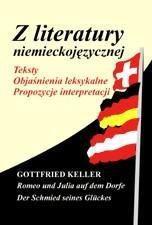Z literatury niemieckojęz. Gottfried Keller...