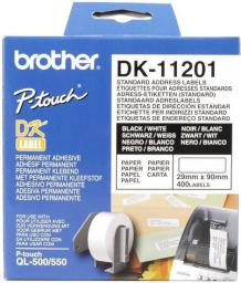 Brother taśma DK-11201 (black on white)