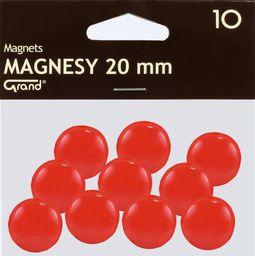 Grand Magnes 20mm czerwony 10szt GRAND - 189195