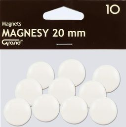 Grand Magnes 20mm biały 10szt GRAND - 189193