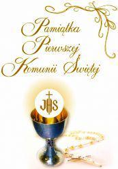 Olesiejuk Pamiątka Pierwszej Komunii Świętej kielich 2 (60995)