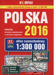 Atlas samochodowy Polska 1:300 000 w. 2016 (1886160