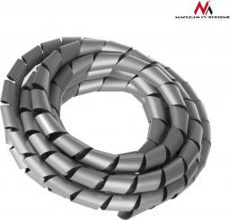 Organizer Maclean Osłona maskująca na kable (14.6*16mm) 3m, srebna, spirala (MCTV-686S)