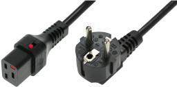 Kabel zasilający Assmann Schuko  - C19, 2m,  czarny (IEC-EL262S)