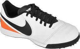 Nike Buty piłkarskie Tiempo Legend VI TF Jr biało-czarny roz 37,5 (819191-108)