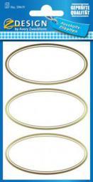 Avery Zweckform Naklejki na przetwory - elipsy złote (151955)