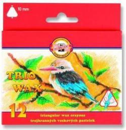 Koh I Noor Kredki Trio Wax jumbo 12 kolorów (238522)