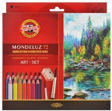 Koh-I-Noor Kredki Mondeluz 72 kolory + pędzel (215182)