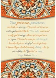 Szaron A Kartka składana - Psalm 23 (225788)