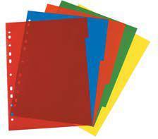 Herlitz Przekładki A4 PP 5 częściowe różne kolory (174276)