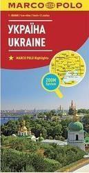 Mapa ZOOM System. Ukraina 1:800 000 Mapa