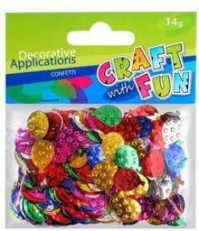 Craft with Fun Ozdoba dekoracyjna metaliczna - balony, 14g  (126423)