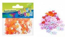 Craft with Fun Cekiny metaliczne kwiaty pomarańczowe 10mm (231833)