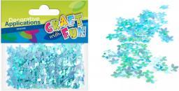 Craft with Fun Cekiny metaliczne kwiaty niebieskie 10mm (231834)