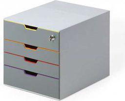 Durable POJEMNIK DURABLE Z 4-SZUFLAD.+KLUCZ.7606  - 7606-27