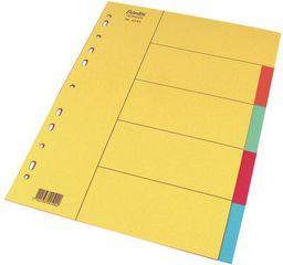 Elba Przekładki kartonowe A4 kolorowe 5szt. (100204917)