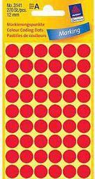 Avery Zweckform ETYK.ZF 3141 12 MM KÓŁKA CZERWONA ETYKIETA - 3141