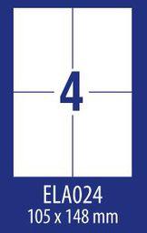 Avery Zweckform ETYK.ZF ECONOMY 105X148MM 024 100ARK ETYKIETA E100 ELA024 - ELA024