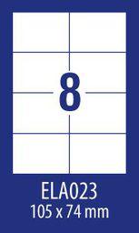 Avery Zweckform ETYK.ZF ECONOMY 105X74MM 023 100ARK ETYKIETA E100 ELA023 - ELA023